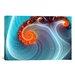 Digital Blue Lagoon Graphic Art on Canvas
