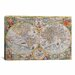 <strong>Antique Map of the World 1594 Graphic Art on Canvas</strong> by iCanvasArt