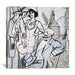 """<strong>""""Aux courses des Longchamps"""" Canvas Wall Art by Juan Gris</strong> by iCanvasArt"""