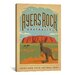 <strong>'Ayers Rock, Australia' by Anderson Design Group Vintage Advertisem...</strong> by iCanvasArt