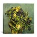 "iCanvasArt ""Basket of Pansies on a Small Round Table"" Canvas Wall Art by Vincent van Gogh"