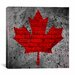 iCanvasArt Canadian Flag, Maple Leaf #12 Graphic Art on Canvas