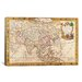 <strong>iCanvasArt</strong> Antique Map of Asia Graphic Art on Canvas