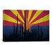 <strong>Arizona Flag, Cactus Grunge Graphic Art on Canvas</strong> by iCanvasArt