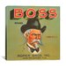 <strong>iCanvasArt</strong> Boss Brand Vintage Crate Label Canvas Wall Art