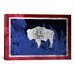 <strong>Wyoming Flag, Jackson Hole Graphic Art on Canvas</strong> by iCanvasArt