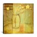 "iCanvasArt ""Yellow Flowers in Vase"" Canvas Wall Art by Pablo Esteban"