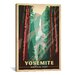 <strong>iCanvasArt</strong> 'Yosemite National Park' by Anderson Design Group Vintage Advertisement on Canvas