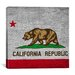 <strong>California Flag, Square Grunge Graphic Art on Canvas</strong> by iCanvasArt