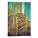 <strong>iCanvasArt</strong> 'Chair with Pipe' by Vincent van Gogh Painting Print on Canvas