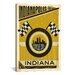 iCanvasArt 'Circle City - Indianapolis, Indiana' by Anderson Design Group Vintage Advertisement on Canvas
