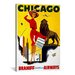<strong>iCanvasArt</strong> Chicago Braniff Airways Vintage Advertisement on Canvas