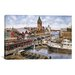 iCanvasArt 'Chicago: Elevated RR, Ca 1896' by Stanton Manolakas Painting Print on Canvas