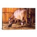 <strong>'All In Good Time (Cow)' by William Breedon Painting Print on Canvas</strong> by iCanvasArt