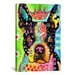 <strong>'Boston Terrier Crowned' by Dean Russo Graphic Art on Canvas</strong> by iCanvasArt