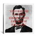 <strong>Abraham Lincoln Quote Canvas Wall Art</strong> by iCanvasArt
