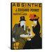 iCanvasArt Absinthe Vintage Advertisement on Canvas