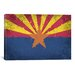 iCanvasArt Arizona Flag, Grunge Painted Graphic Art on Canvas