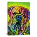 iCanvasArt 'Hey Bulldog' by Dean Russo Graphic Art on Canvas