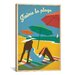 <strong>iCanvasArt</strong> 'J'aime la Playa' by Anderson Design Group Vintage Advertisement on Canvas