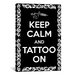 iCanvasArt Keep Calm and Tattoo On Textual Art on Canvas