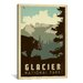 <strong>iCanvasArt</strong> 'Glacier National Park' by Anderson Design Group Vintage Advertisement on Canvas