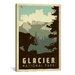 iCanvasArt 'Glacier National Park' by Anderson Design Group Vintage Advertisement on Canvas