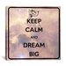 iCanvasArt Keep Calm and Dream Big Textual Art on Canvas