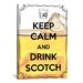 <strong>iCanvasArt</strong> Keep Calm and Drink Scotch Textual Art on Canvas