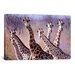 <strong>iCanvasArt</strong> Giraffes by Pip McGarry Painting Print on Canvas