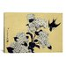 iCanvasArt Ando Hiroshige 'Hydrangea and Swallow' by Katsushika Hokusai Graphic Art on Canvas