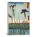 <strong>iCanvasArt</strong> Ando Hiroshige 'Horikiri Iris Garden' by Utagawa Hiroshige l Graphic Art on Canvas