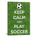 <strong>iCanvasArt</strong> Keep Calm and Play Soccer Textual Art on Canvas