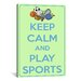 <strong>iCanvasArt</strong> Keep Calm and Play Sports Textual Art on Canvas
