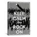 <strong>Keep Calm and Rock On Textual Art on Canvas</strong> by iCanvasArt