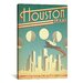 <strong>iCanvasArt</strong> 'Houston, Texas' by Anderson Design Group Vintage Advertisement on Canvas