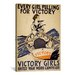iCanvasArt Every Girl Pulling for Victory WWI Vintage Advertisement on Canvas