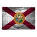<strong>Florida Flag, Grunge Alligator Graphic Art on Canvas</strong> by iCanvasArt