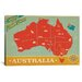 <strong>'Explore Down Under, Australia' by Anderson Design Group Vintage Ad...</strong> by iCanvasArt