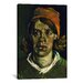 iCanvasArt 'Head of a Woman' by Vincent Van Gogh Painting Print on Canvas
