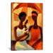 iCanvasArt 'In the Shade' by Keith Mallett Painting Print on Canvas