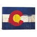 <strong>Colorado Flag, Metal Rivet with Paint Drips Graphic Art on Canvas</strong> by iCanvasArt