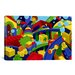 <strong>iCanvasArt</strong> Kids Children Colorful Toys Canvas Wall Art