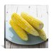 <strong>Cooked Corn on a Plate Photographic Canvas Wall Art</strong> by iCanvasArt