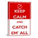 iCanvasArt Keep Calm and Catch Em' All Textual Art on Canvas