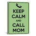 <strong>iCanvasArt</strong> Keep Calm and Call Mom Textual Art on Canvas