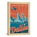 <strong>iCanvasArt</strong> 'Dallas, Texas' by Anderson Design Group Vintage Advertisement on Canvas