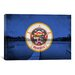 <strong>Minnesota Flag, Grunge Peterson Lake Calhoun Graphic Art on Canvas</strong> by iCanvasArt
