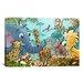 iCanvasArt Kids Children Jungle Cartoon Animals Canvas Wall Art