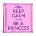 <strong>Keep Calm and Be a Princess Textual Art on Canvas</strong> by iCanvasArt